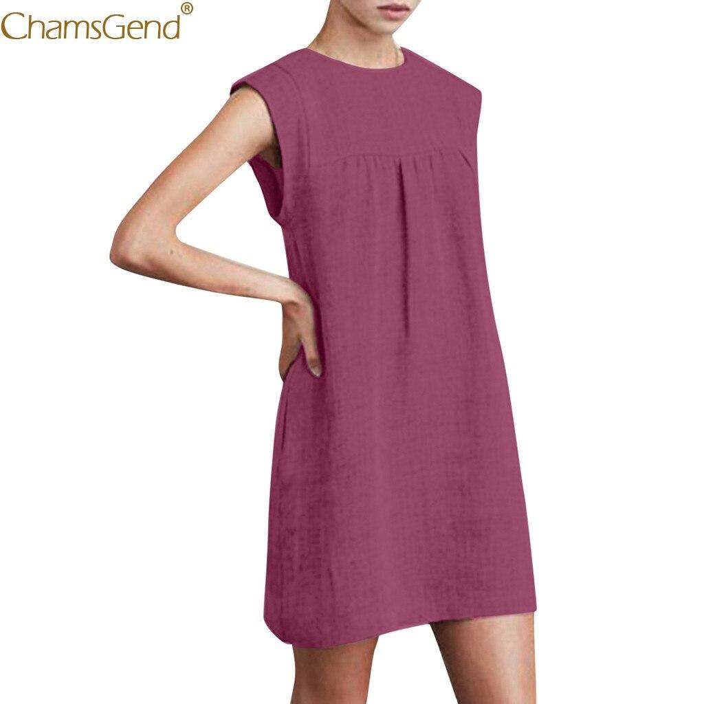 Summer Sleeveless summer dress cotton dress women plus size maxi dresses summer for women Linen Casual Beach Summer Mar