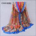 Женщины в весна лето шарф большие длинная шарфы pricepink леди шифон пашмина scarf180 * 110 см