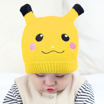 Cute Baby Pikachu Hat Seven Color Pikachu Pattern Cap For Kids