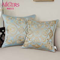 Avigers Luxury Design Gold Cushion Cover Chinese Style Embroidery Art Pillow Case Home Decorative Sofa Gift Throw Pillow 45x45cm