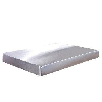 Tribut Seide Einfarbig Silber Grau Glatte Bettwäsche Heimtextilien