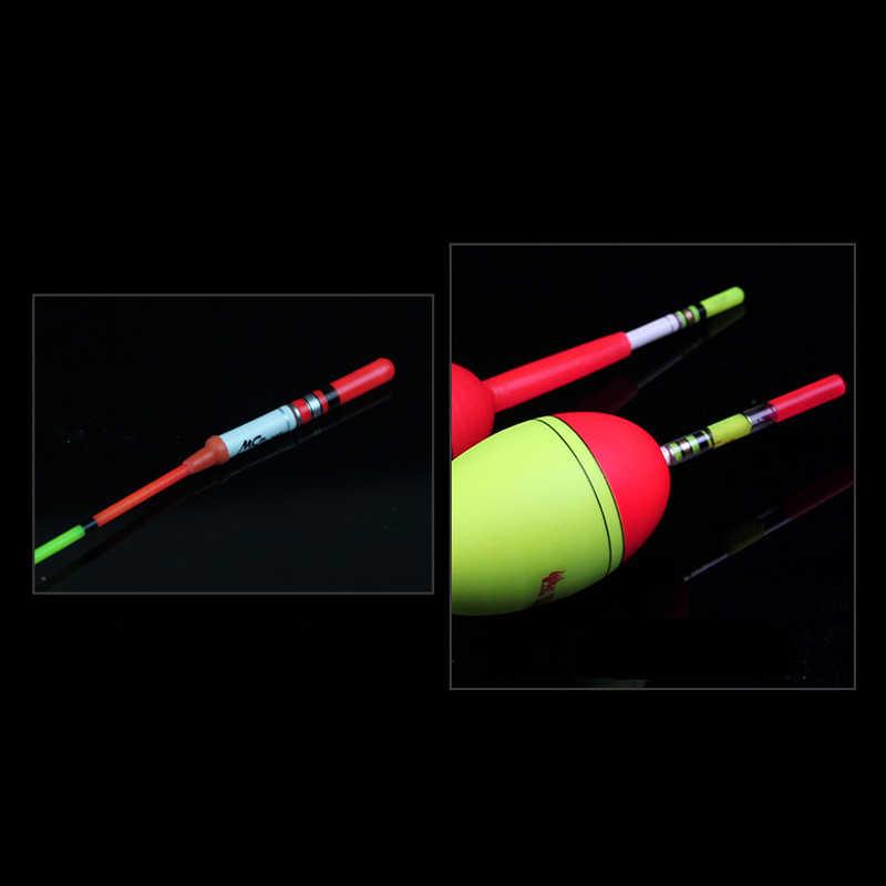10 sztuk świecące pałeczki zielony/czerwony pracy z CR322 Luminous Float LED noc wędkarskiego świetlisty kij PJ143