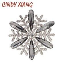 Cindy xiang 2 цвета на выбор Стразы Броши «Снежинка» Для женщин