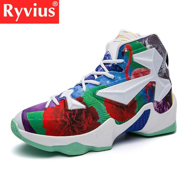 520749934d66 High-quality Men s Colorful Basketball Shoes Fashionable And Comfortable Basketball  Shoes Shiny Stadium