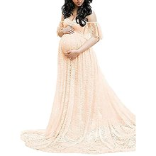 Fashion Long Dress Maternity Photography Props Pregnancy Clothes Maternity Dresses for Photo Shoot Pregnant Lace Maxi Gown Dress