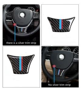 For BMW F10 F01 F07 5 series 7 series 2011 - 2017 Carbon Fiber Steering Wheel Sticker M Stripe Color Emblem 3D Sticker(China)