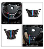 For BMW F10 F01 F07 5 series 7 series 2011 - 2017 Carbon Fiber Steering Wheel Sticker M Stripe Color Emblem 3D Sticker