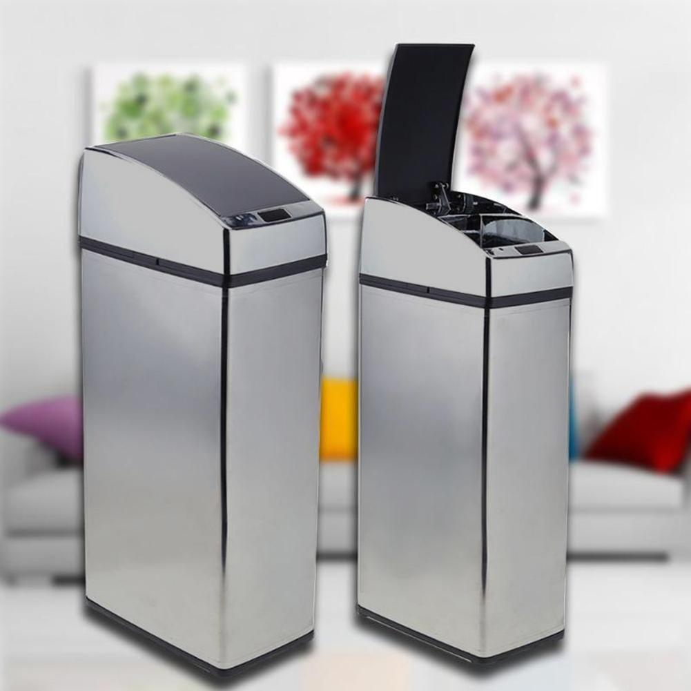 3/4/6L Automatic IR Smart Sensor Dustbin Trash Can Induction Household Waste Bin Household Merchandises Useful