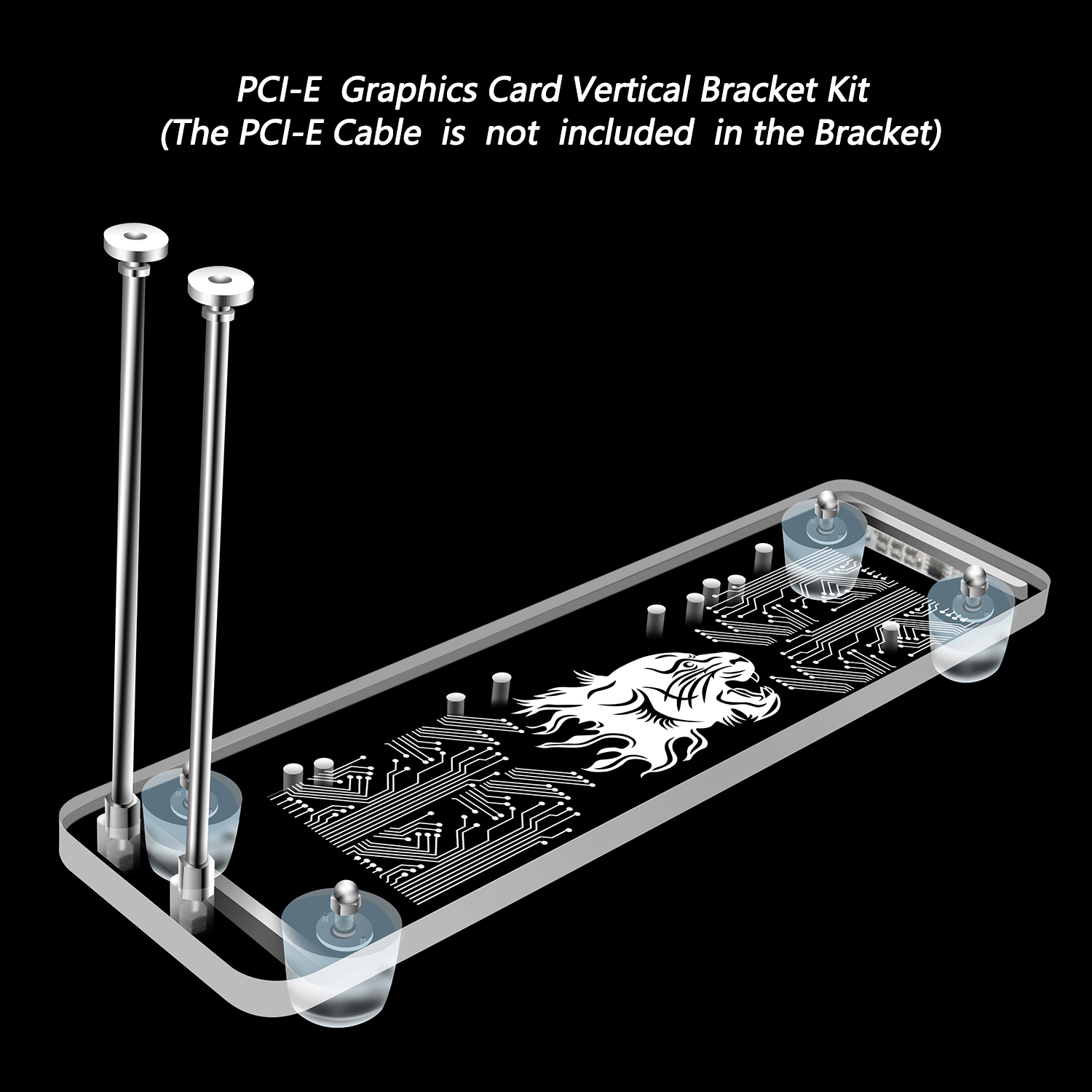E 3.0 16X Graphics Card vertical kickstand//base with cable for DIY  ATX cas PCI