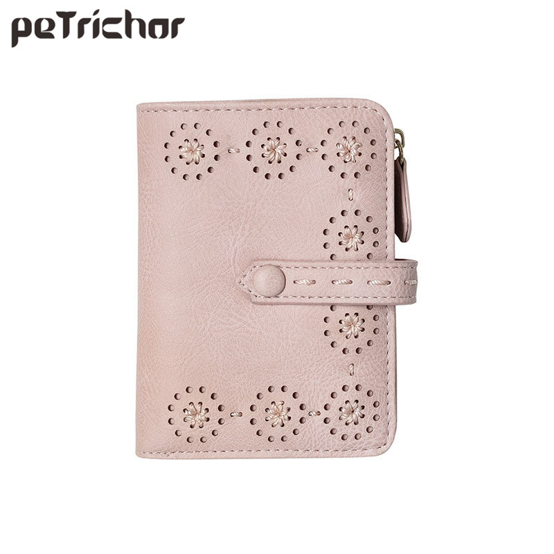 2017 New Style Korean Short Wallet Female Fresh Hollow Out Purse Women Brand Coin Pocket Wallets for Ladies Simple Girl Mini Bag 2015 new brand female elegent style 100