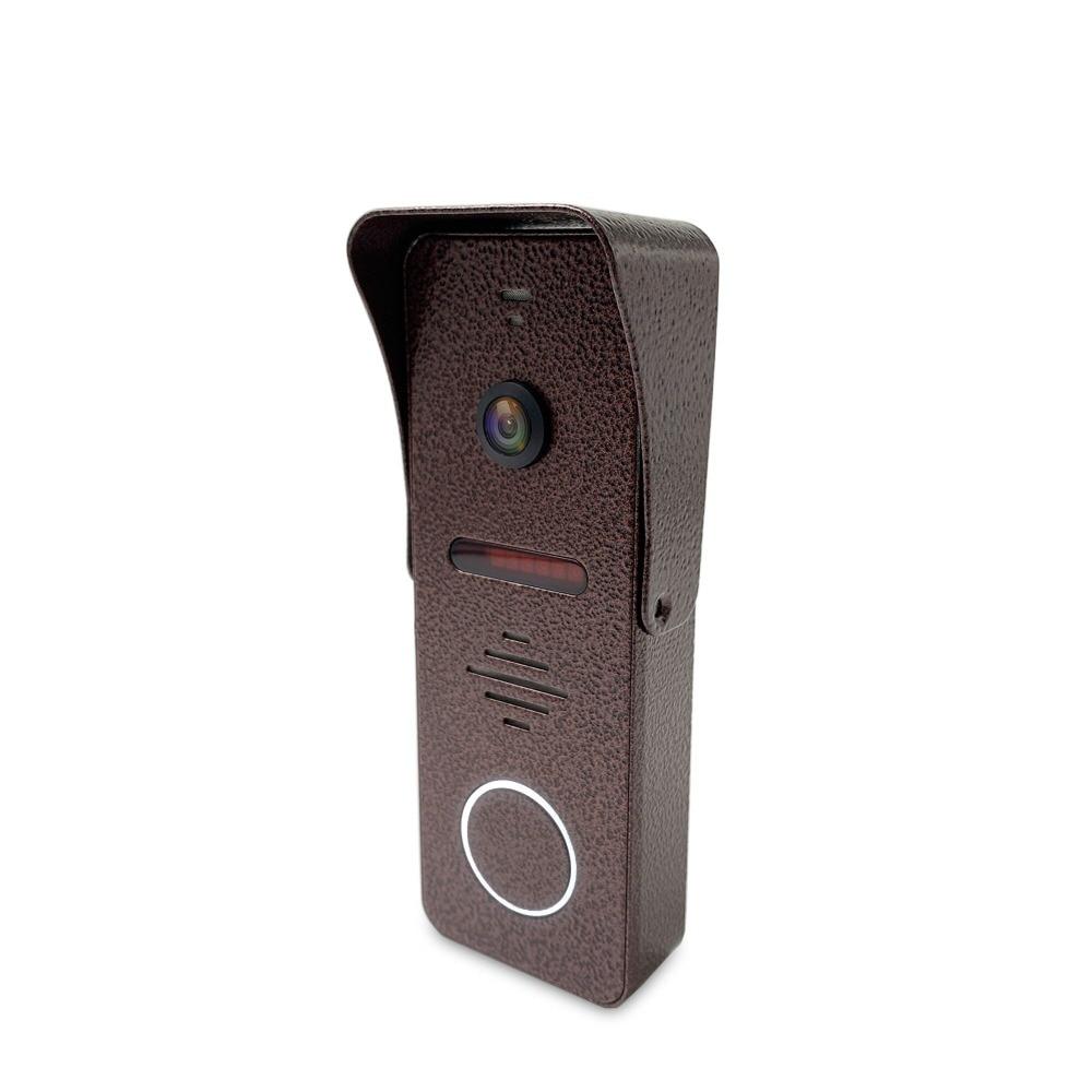 Dragonsview 7 pulgadas Video puerta teléfono intercomunicador sistema registro detección de movimiento gran angular timbre con cámara cubierta impermeable - 3