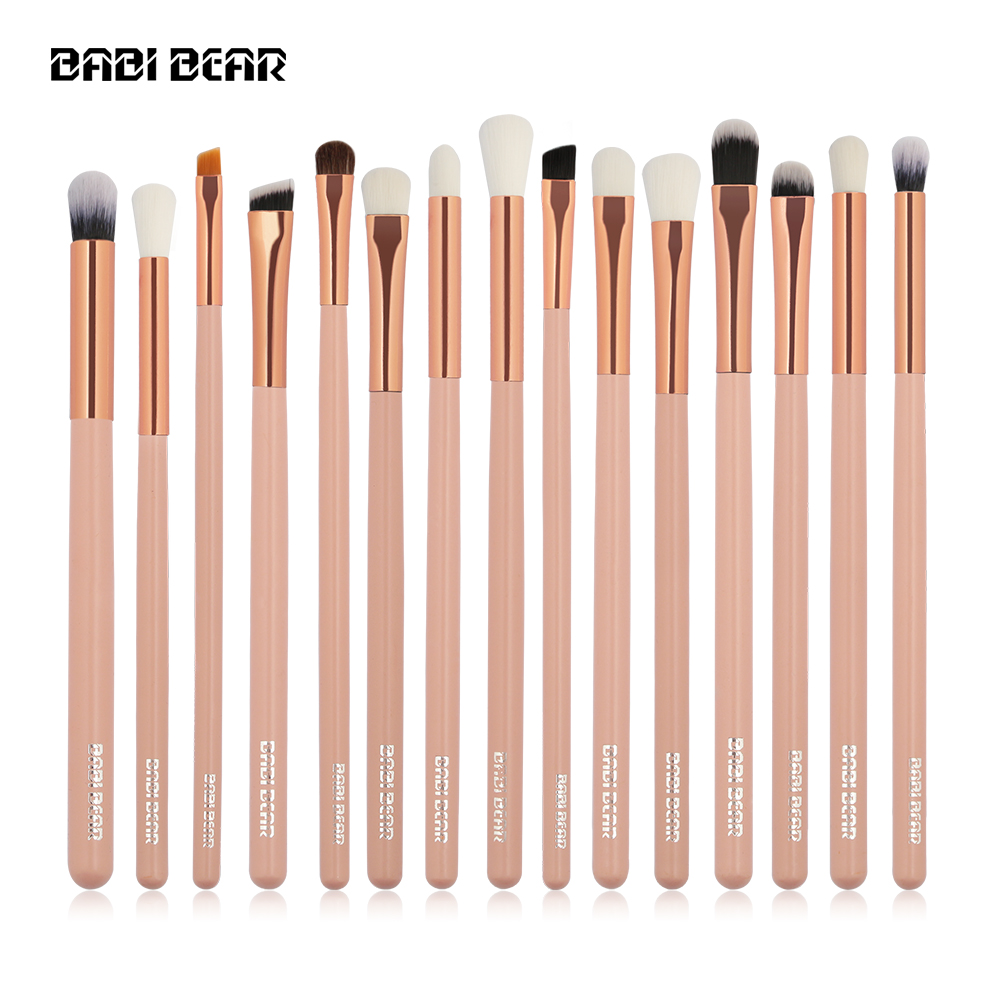 15Pcs Professional Makeup Brushes Set Make Up Brush Tools Kit Eyeshadow Eyeliner Blending Shader Synthetic Hair with Bag free shipping 3 pp eyeliner liquid empty pipe pointed thin liquid eyeliner colour makeup tools lfrosted purple