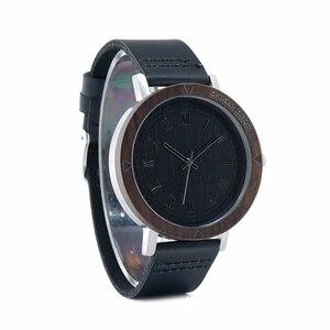 Image 4 - BOBO BIRD montre bracelet WK05 pour hommes, montre bracelet en cuir souple, visage avec numéro de Rome, japon, Quartz, 2035, livraison directe, accepte OEM