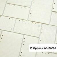 A5 A6 A7 Lose Blatt Notebook Refill Spirale Bindemittel Planer Innere Seite Innen Papier Dairy Wöchentlich Monatlich Plan Zu tun linie Dot grid