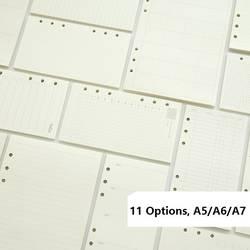 A5 A6 A7 свободные блокнот со съемными листами пополнения спиральные связующего планировщик внутренняя страница внутри Бумага молочные