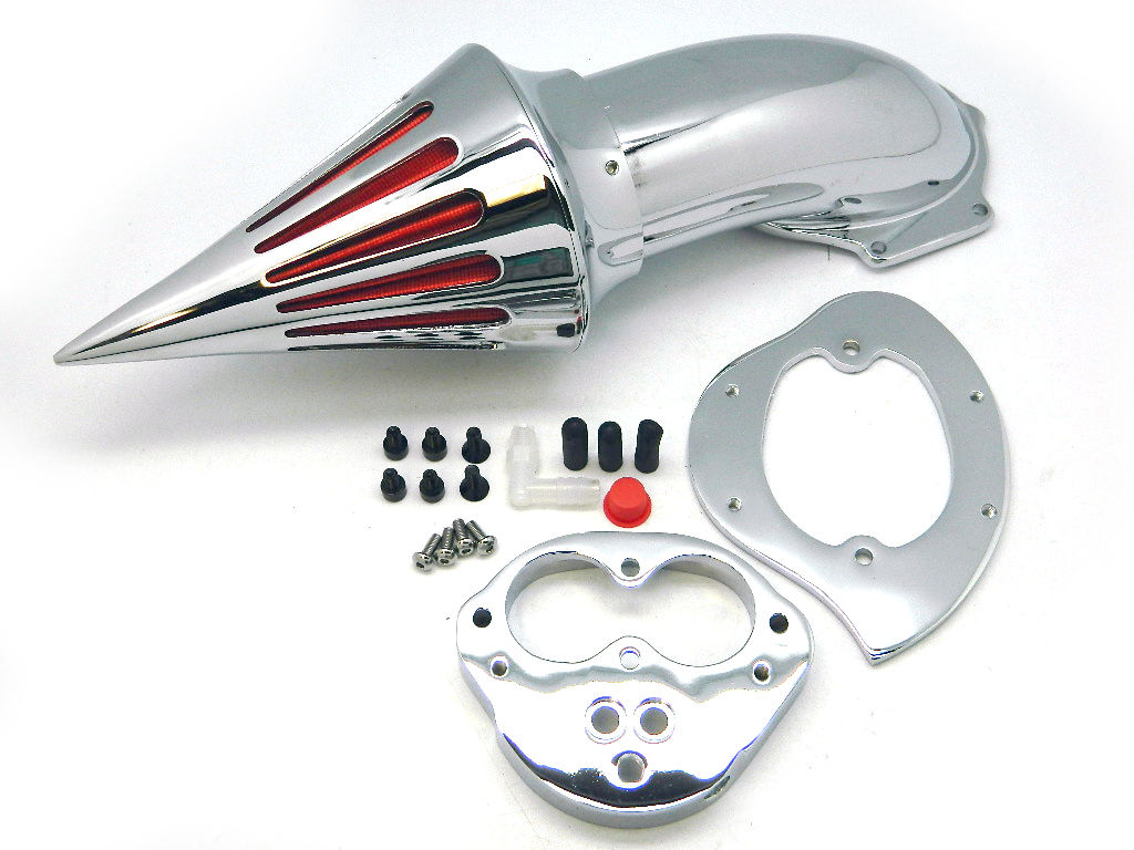 Motorcycle Chrome Spike Air Cleaner Kits Intake Filter For Kawasaki Vulcan 1500 1600 Classic 2000-2012