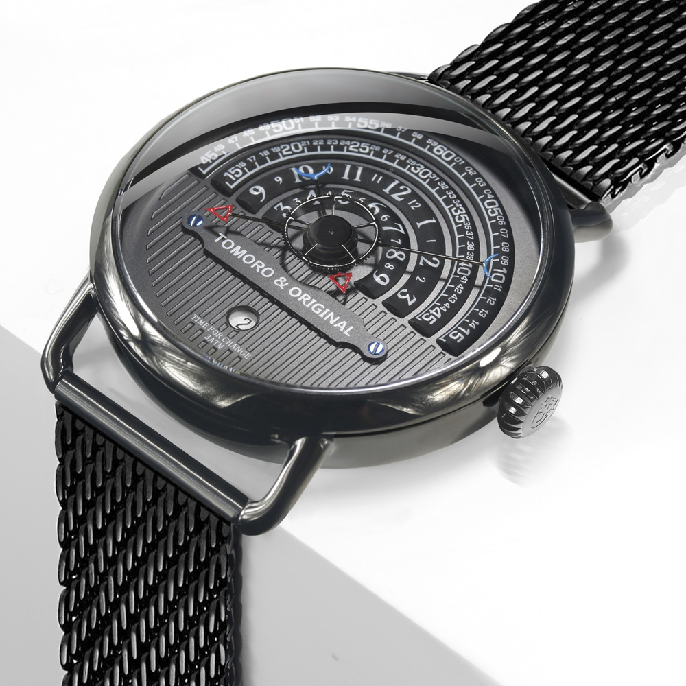 TOMORO Original Men Vogue Fashion Unique Reading Casual Clock Luxury Male Date Quartz Creative Cool Gift Watch with Mesh Strap цена 2017