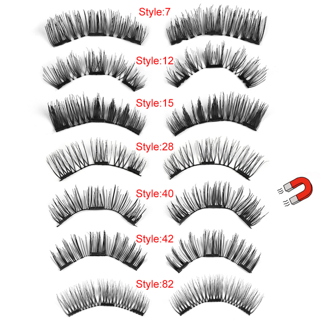 0752f57beec 1 Set Make Up Triple Magnetic False Eyelashes Full Coverage Glue-free  Magnet Eye Lashes Handmade Makeup Beauty Extension Tools