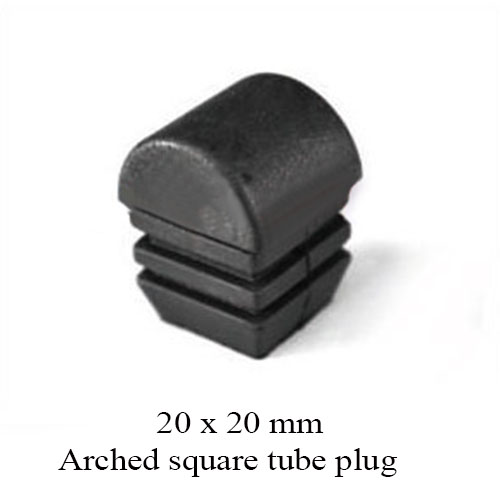 20x20 mm square tube plug plastic end cover for blanking tube cap. pad arched ball head surface round shape chair beach bed