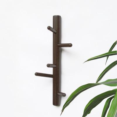 modern simple coat rack vertical wooden link oak wall hangers decoration for livingroom bedroom storage holders