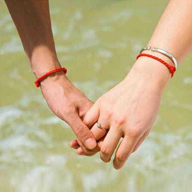 1 adet Moda Ucuz Vahşi Sıcak kırmızı halat Bilezik Şanslı Bilezik Kordon Dize Klasik El Yapımı Çift Bilezik Lover Hediye Toptan