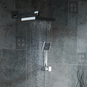 """Image 3 - Bathroom Shower Set 3 Functions Thermostatic LED Digital Display Shower Mixer Concealed Shower Faucet 10"""" Rainfall Shower Head"""
