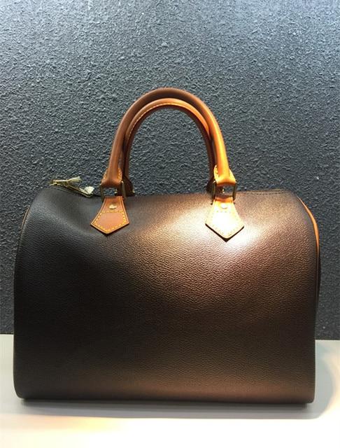Известный бренд кожа большой размер сумка женская сумочка молния леди Mochila фемин коричневый печати дамы кожаная сумка