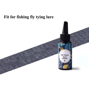 Image 3 - 10/15/25/60g Fly Tying Super Clear UV Glue Thin& Thick DIY fishing bait UV crystal glue Instant Cure Quick Drying Glue