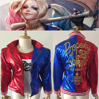 NEW Arrival 2016 Movie Suicide Squad Harley Quinn Women Girl Cosplay Costume Clothing Halloween Anime Coat