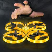 Interactive Induction Drone Toys Quadcopter Watch Remote Control UFO LED Light RTF UAV Aircraft Intelligent Drone Christmas Gift