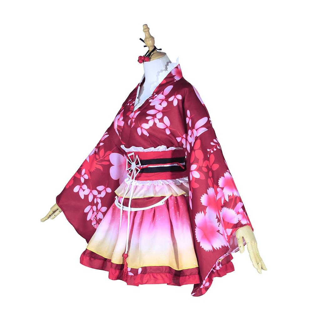 ROLECOS Anime Love Live Cosplay Costumes Kousaka Honoka Sonoda Umi Nishikino Maki Kimono Cosplay Costumes Love Live Yukata    2