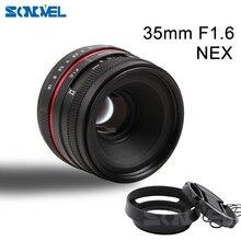 35MM F1.6 small wide angle manual APS-C camera lens for SONY E Mount A6500 A6300 A6100 A6000 NEX-7 NEX-6 NEX Series Camera