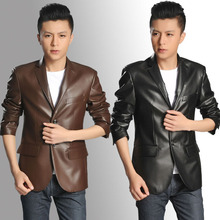 Free transport ! Black brown spring autumn leather-based clothes males's jackets go well with slim PU quick coats man informal enterprise M – 3XL