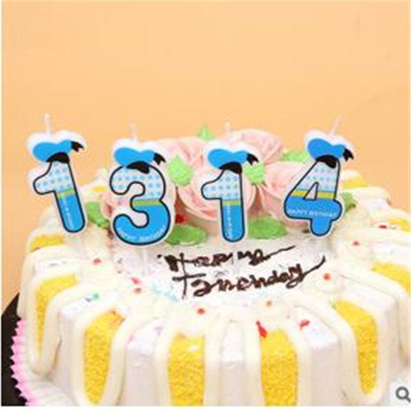 1pc Cute Boys Girls Happy Birthday Candle Design 0 9 Anniversary