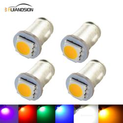4x Ba7s DC 6V Negative Earth LLB282 5050 1 LED DASHBOARD WARNING SWITCH BULB White Ice blue Red Green Pink color
