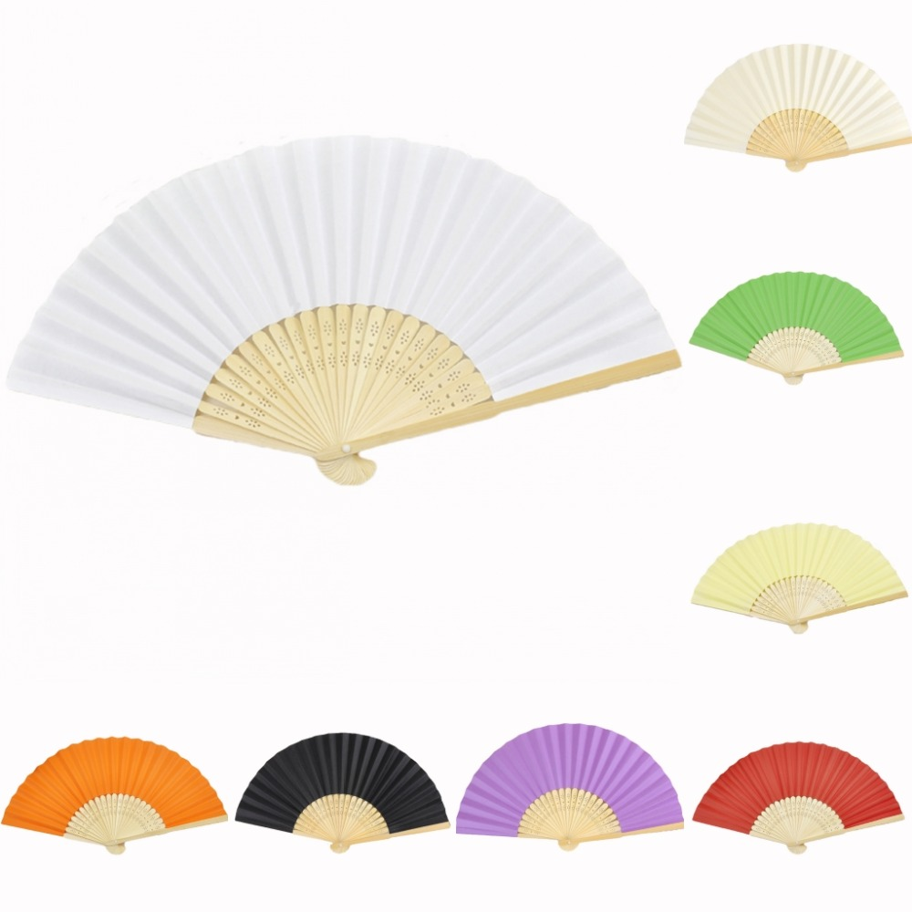 5pcs*Ladies Bamboo & Paper Fan Hollow Out Hand Folding Fans Outdoor ...