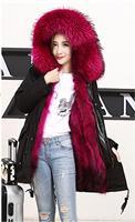 Real fur parka women winter real fur parka raccoons coat women jacket with real fur parkas camouflage real raccoon parka
