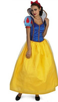 Plus Size Adult Snow White Costume For Girls Fairy Tale Cinderella Princess Dress Halloween Cosplay Fancy