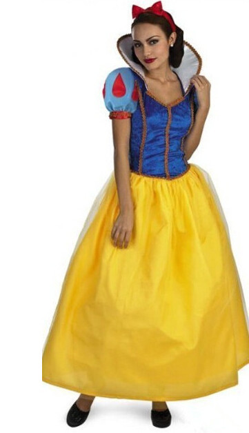 Plus Size Adult Snow White Costume For Girls Fairy Tale Cinderella Princess Dress Halloween Cosplay Fancy party dress