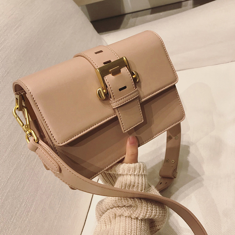 Bao women Solid color belt buckle small square package Retro lock bag New European and American shoulder bag Diagonal package chishimba mowa and bao tran nguyen mapping cells expressing estrogen receptors