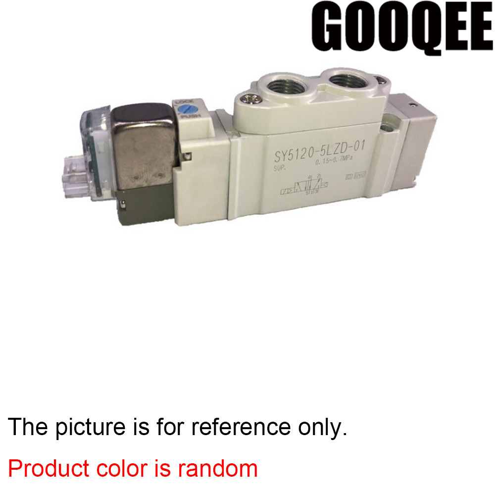 цена на 1PCS Solenoid valve SY5120-3LZD-01/4LZD-01/5LZD-01/6LZD-01 smc type performance rated voltage direct connected