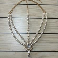 Handmade Kundan stones hair chain head chain head jewellery