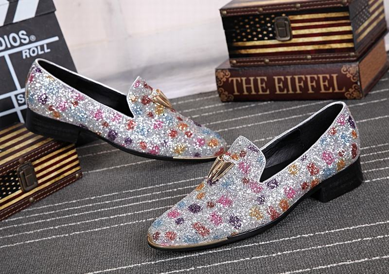 cf98544b2afc New fashion sequin men shoes with metal tassel men wedding party loafers  men nightclub bar dress shoes men's flats dance shoes-in Formal Shoes from  Shoes on ...