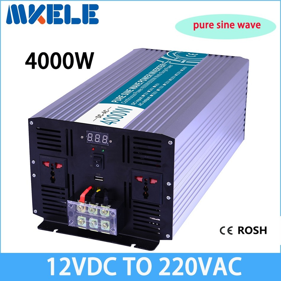 Car Power Inverter 12v 220v 1000w Pure Sine Wave Solar Inverters To 230v Wiring Diagram Mkp4000 122 Off Grid 4000w Voltage