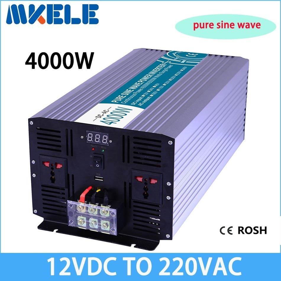 цена на MKP4000-122 off-grid pure sine wave 4000w power inverter 12v to 220v voltage converter,solar inverter LED Display