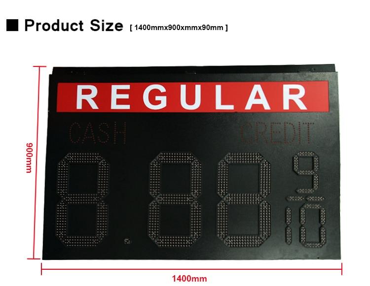 painel de LED Preço do Gás 8.889