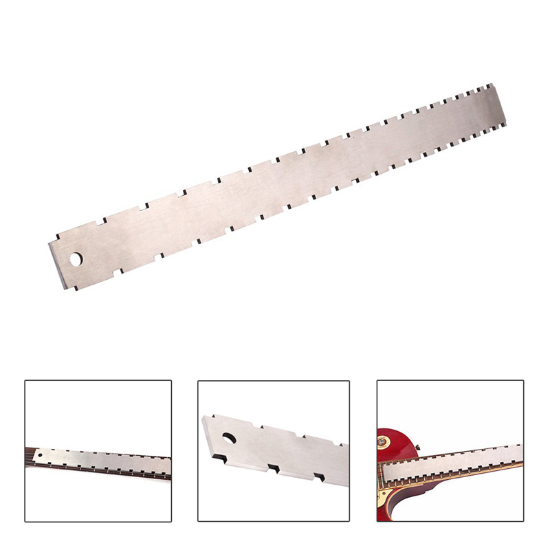 Neck Notched Straight Edge Dual Scale Stainless Steel Guitar Ruler Measuring Fretboard And Frets Tool For Luthiers Newest