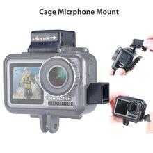 Ulanzi Microfoon Koude Shoe Mount voor Osmo Action Highten Microfoon Klem Qucik Ontgrendelingsplaat voor Originele DJI Osmo Action Kooi