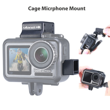 Ulanzi Microphone Cold Shoe Mount for Osmo Action Highten Microphone Clamp Qucik Release Plate for Original DJI Osmo Action Cage