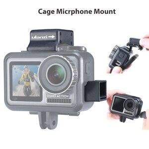 Image 1 - Ulanzi microfone frio sapata montagem para osmo ação highten microfone braçadeira qucik placa de liberação para original dji osmo ação gaiola